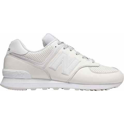 New Balance 574 herensneaker wit en beige