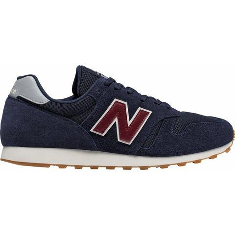 New Balance 373 herensneaker blauw en rood