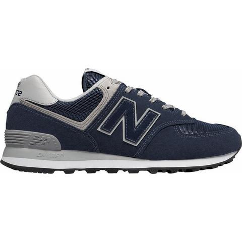 New Balance 574 herensneaker zwart en blauw