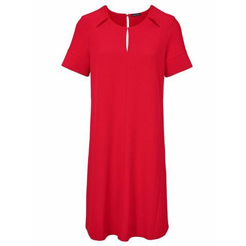 jurk in overgooiermodel rood