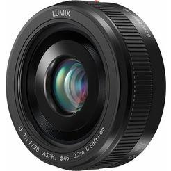 panasonic h-h020a lumix g objectief met vaste brandpuntsafstand, 20mm-f1.7 zwart