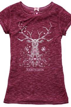 hangowear folkloreshirt dames met hertenprint rood