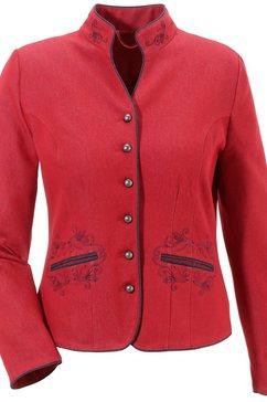 folkloreblazer dames in denim-look rood