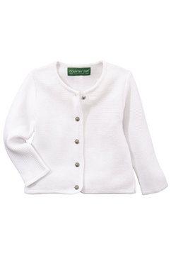 country line vest in folklorestijl voor kinderen met bolknoopjes wit