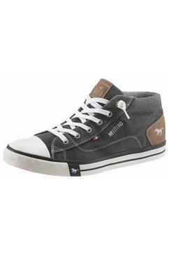 mustang shoes sneakers met gestempeld logo grijs