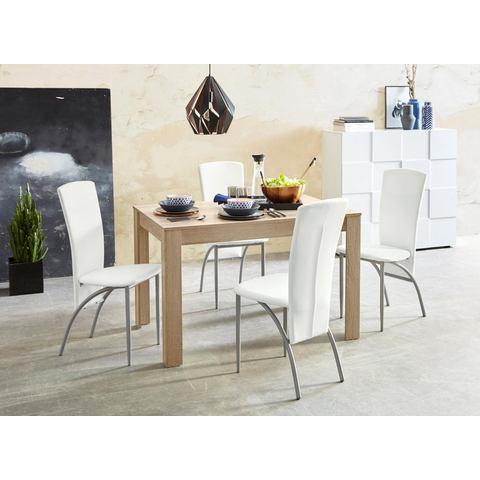 Eethoek 5-delig, tafelbreedte 120 cm in ongeschaafd-eikenkleur