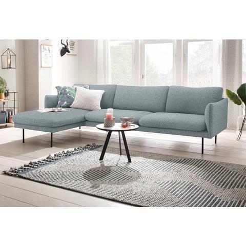 andas hoekbank Mavis, met chaise longue, met losse zit- en rugkussens, Scandinavische stijl