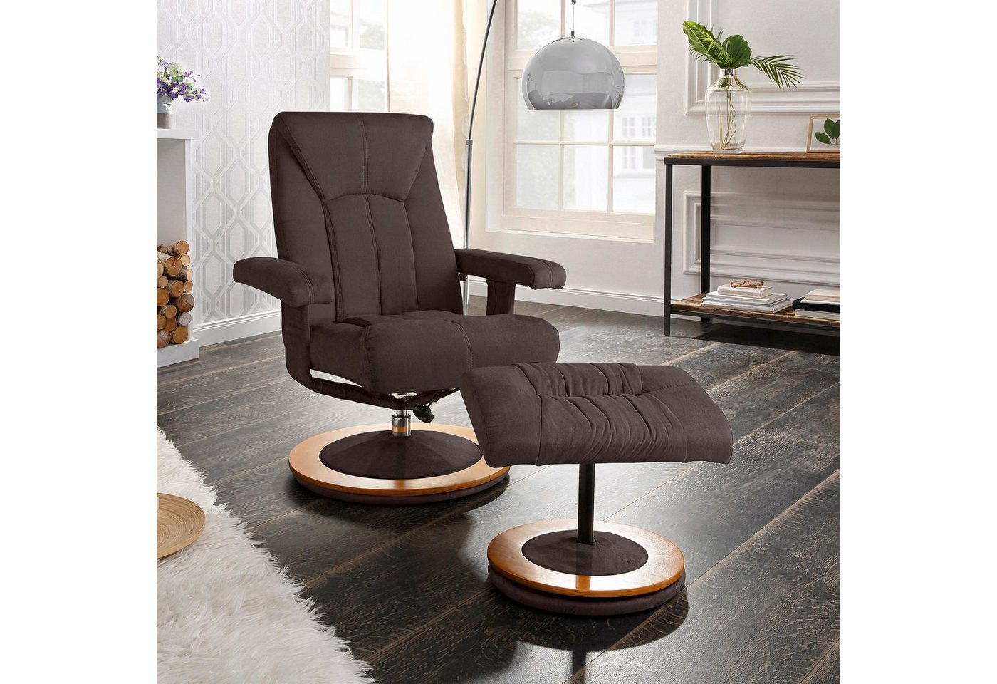 HOME AFFAIRE relaxfauteuil & hocker Colmar in 3 stofkwaliteiten