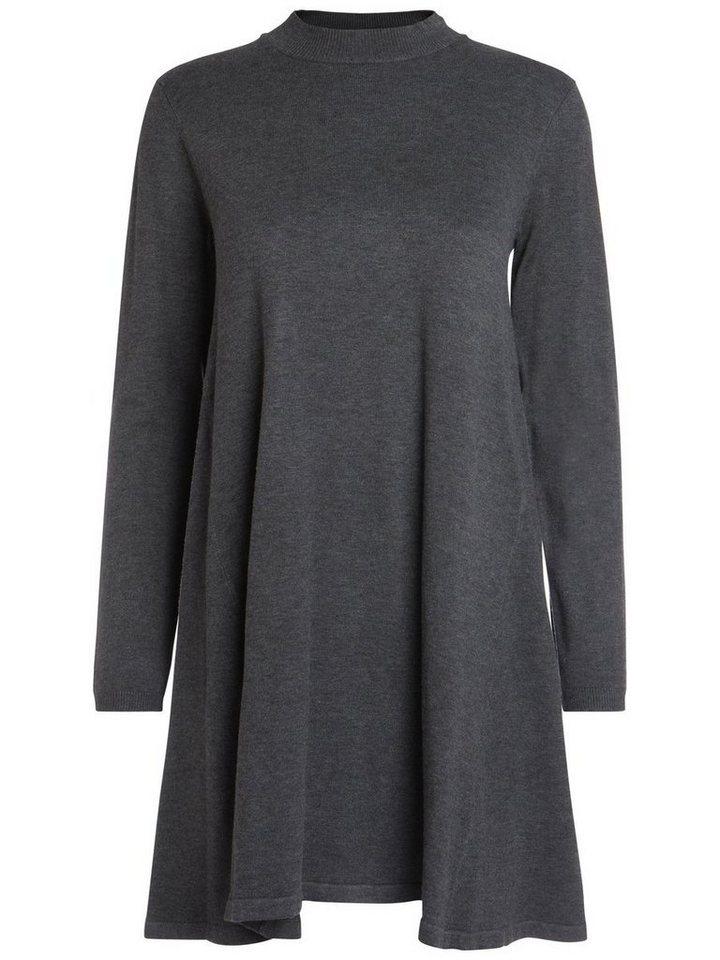 Pieces gebreide jurk grijs