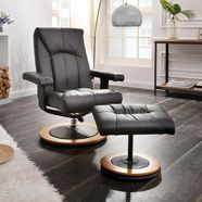 home affaire relaxfauteuil  hocker »colmar« in 3 stofkwaliteiten zwart