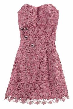 guido maria kretschmer kanten jurk roze