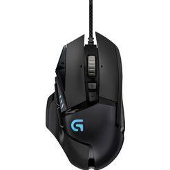 logitech games »g502 proteus spectrum rgb« gaming-muis (bedraad, 12.000 dpi) zwart