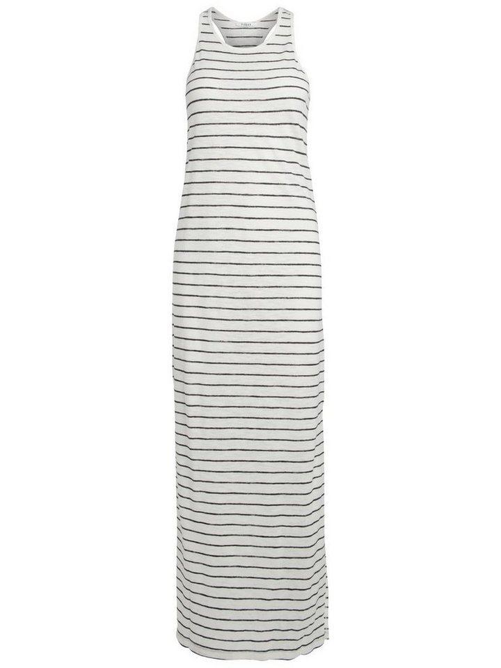 NU 21% KORTING: Pieces Lange gestreepte jurk wit
