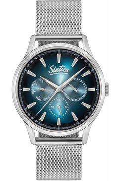sixties multifunctioneel horloge »six600sme-03« zilver