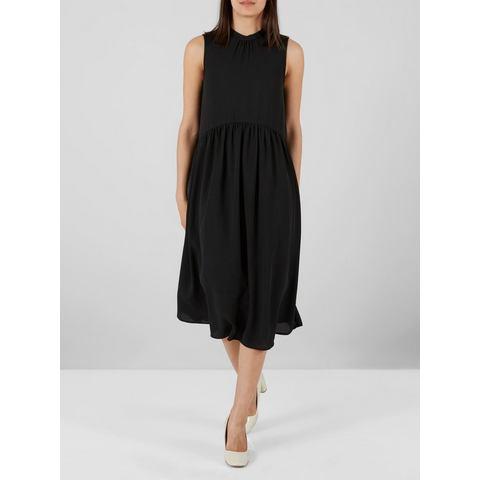 Y.A.S Loose fit Midi jurk zwart