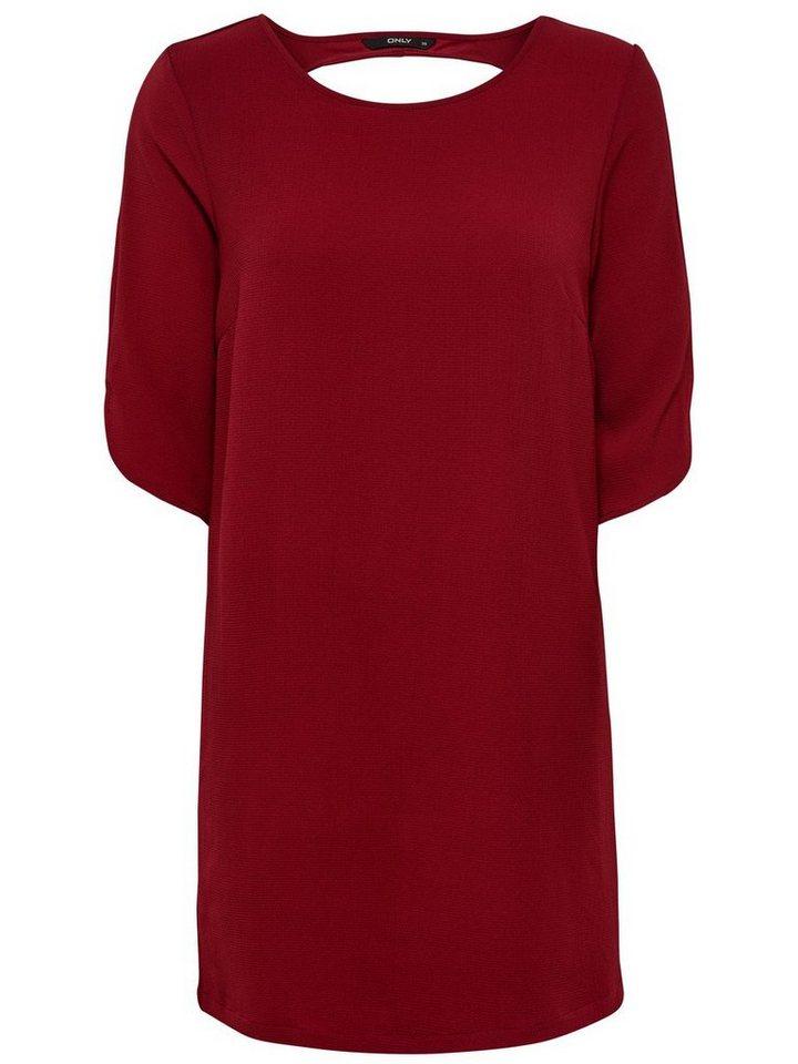 ONLY Gedetailleerde jurk rood