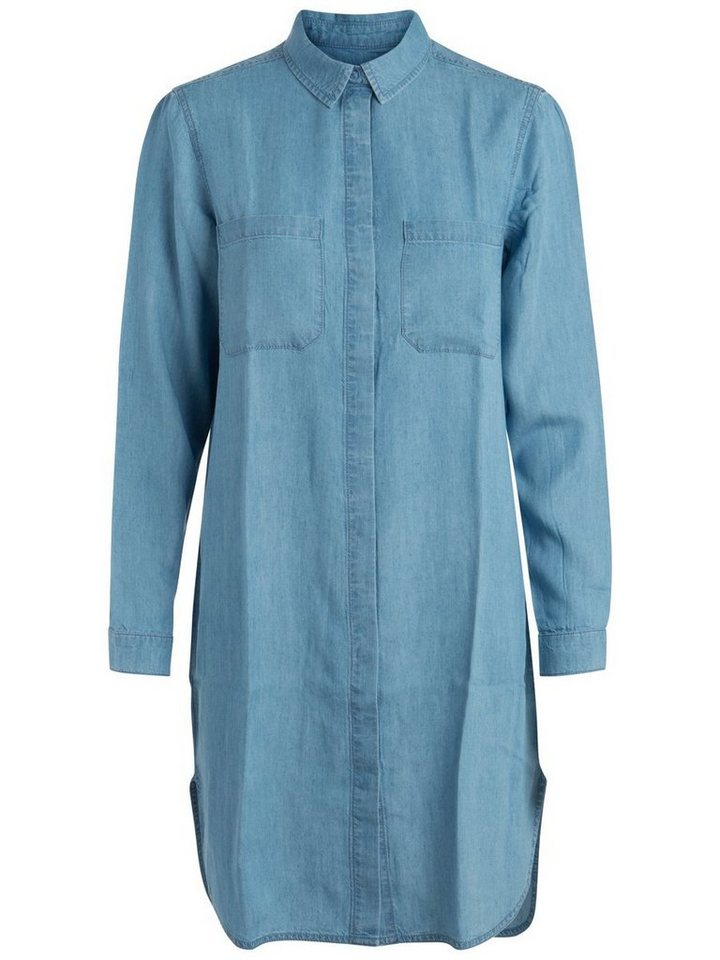 Pieces Denim jurk blauw