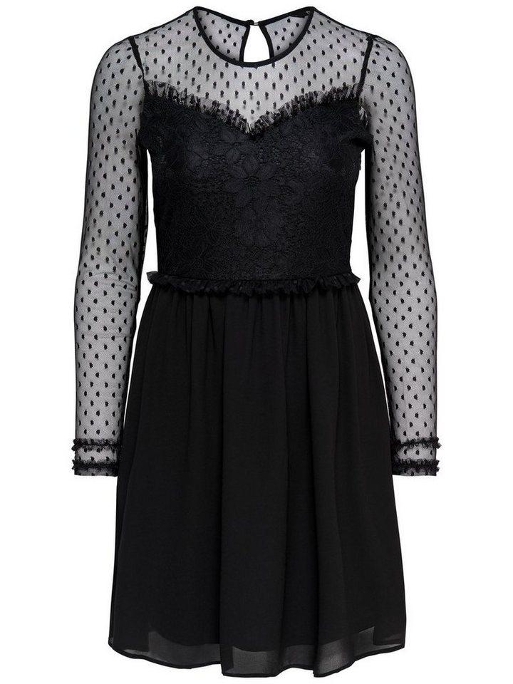 ONLY Mesh jurk met lange mouwen zwart