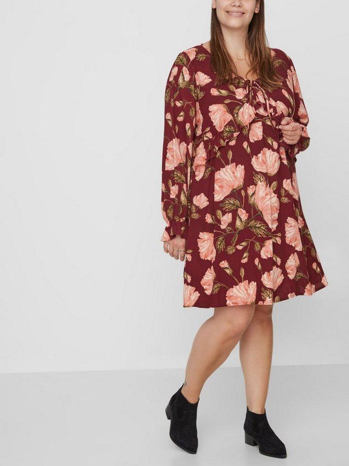 Junarose Bloemenprint jurk paars