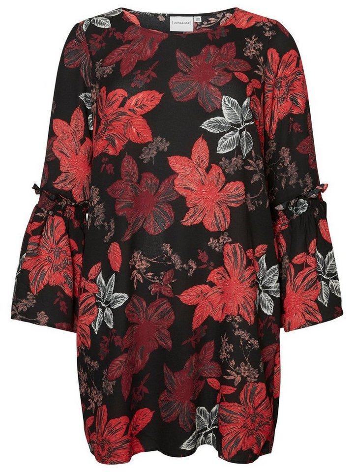 Junarose Met bloemen bedrukte jurk zwart
