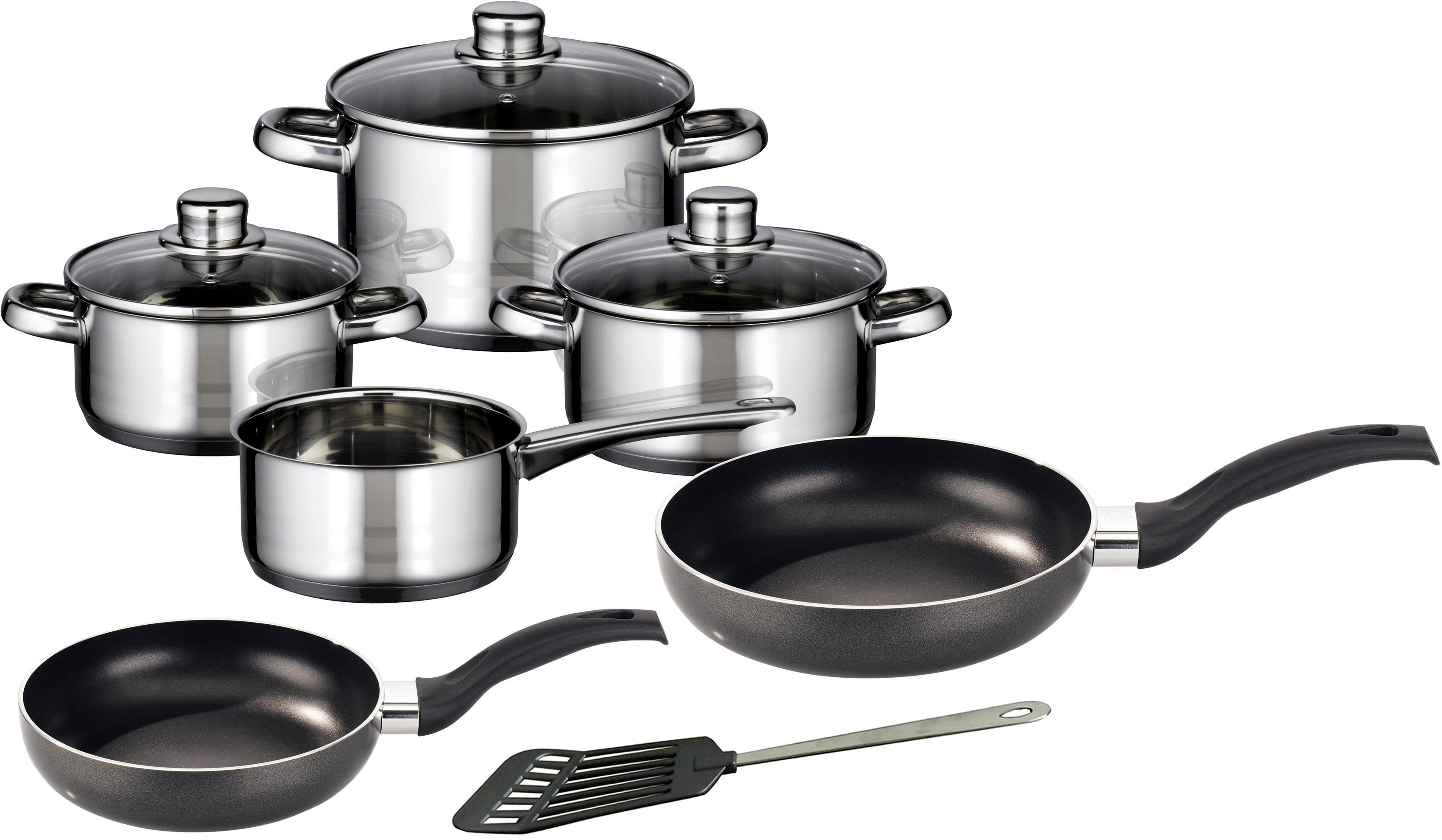 Elo - Meine Küche Meine Küche pannenset, 7-delig, + pannenset, 2-delig, spatel, inductie, »Skyline« voordelig en veilig online kopen