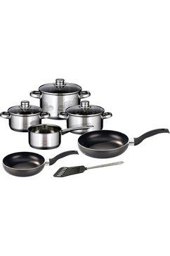 Meine Küche pannenset, 7-delig, + pannenset, 2-delig, spatel, inductie, »Skyline«