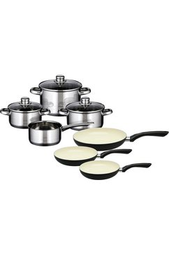 Meine Küche pannenset, 7-delig, + pannenset, 3-delig, inductie, »Skyline«