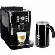 delonghi volautomatisch koffiezetapparaat ecam 21.118.b, met melkopschuimer, zwart zwart