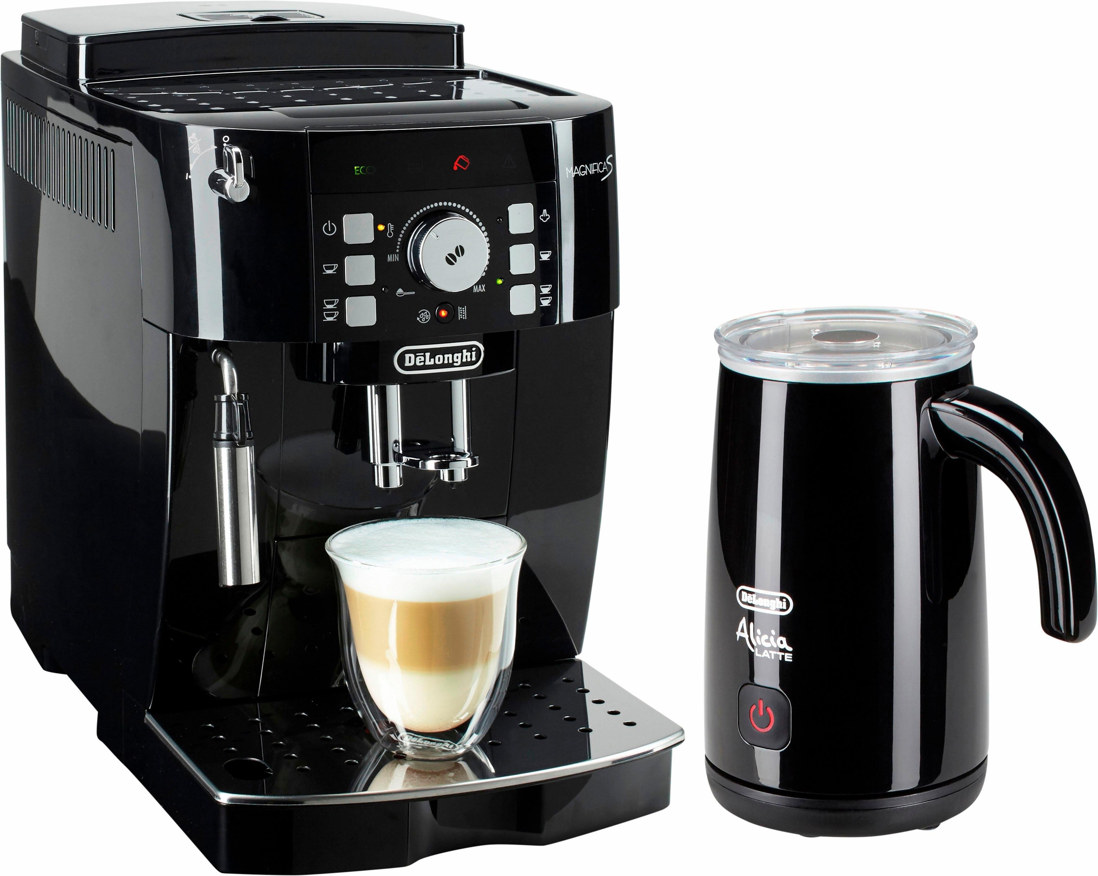 De'longhi Delonghi volautomatisch koffiezetapparaat ECAM 21.118.B, met melkopschuimer, zwart in de webshop van OTTO kopen