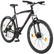 kcp mountainbike »garriot«, 27,5 inch, 48 cm framehoogte, 21 versnellingen, schijfremmen zwart