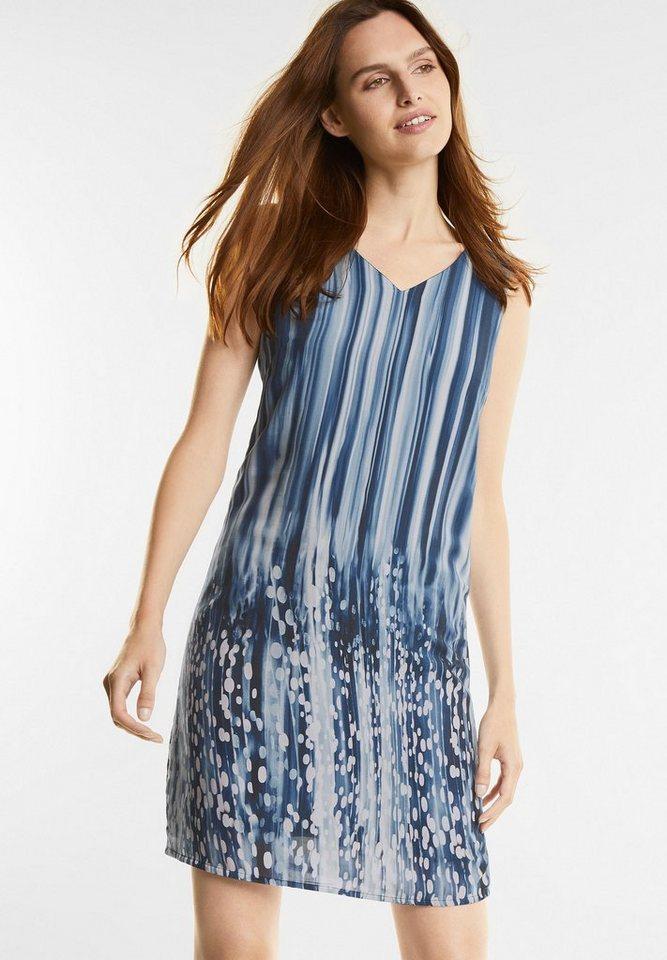 Street One Gestreepte jurk met stippen blauw