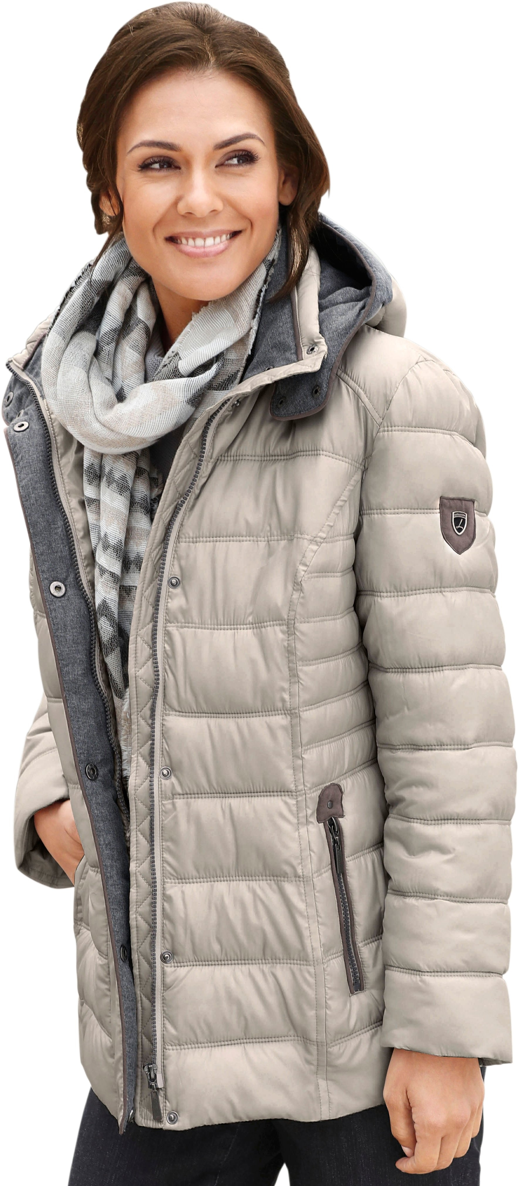 Casual Looks jas met sportief stikselmotief - verschillende betaalmethodes