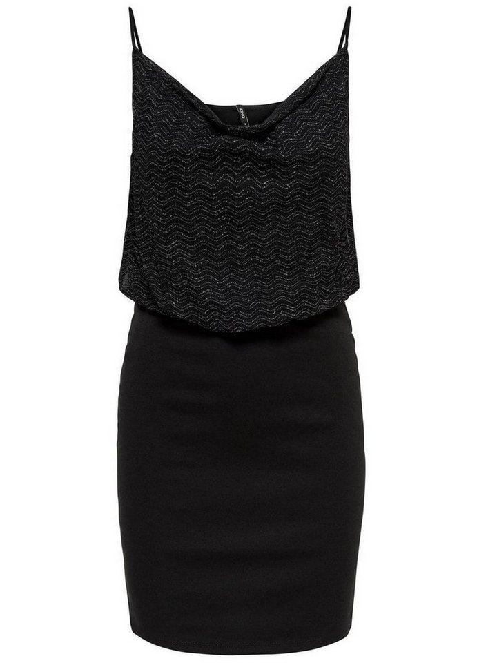 ONLY Gedetailleerde Mouwloze jurk zwart