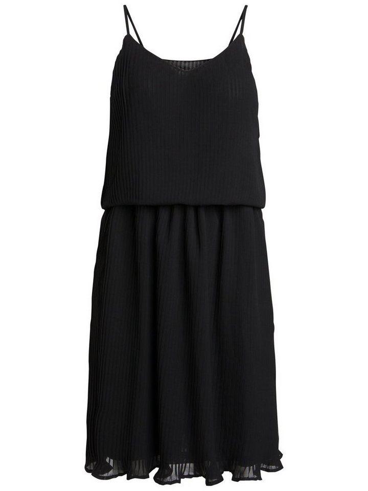 Pieces Mouwloze plooi jurk zwart