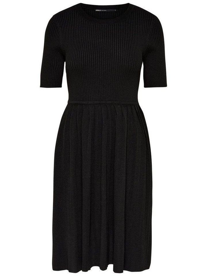 ONLY Korte mouw gebreide jurk zwart