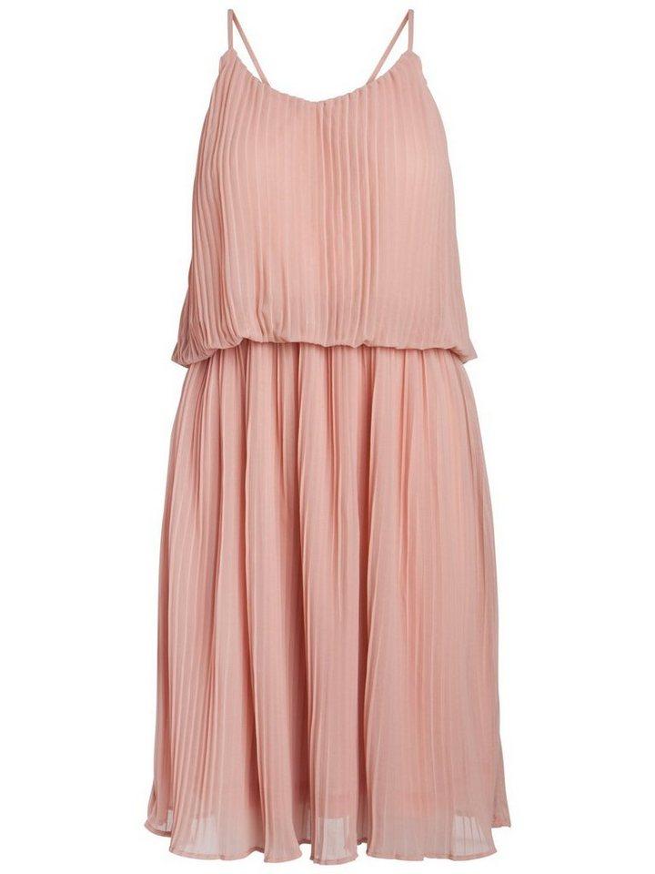 Pieces Mouwloze plooi jurk roze
