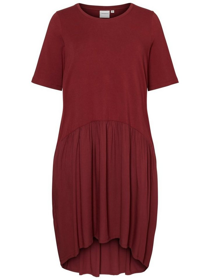 Junarose 2/4-mouwen jurk paars