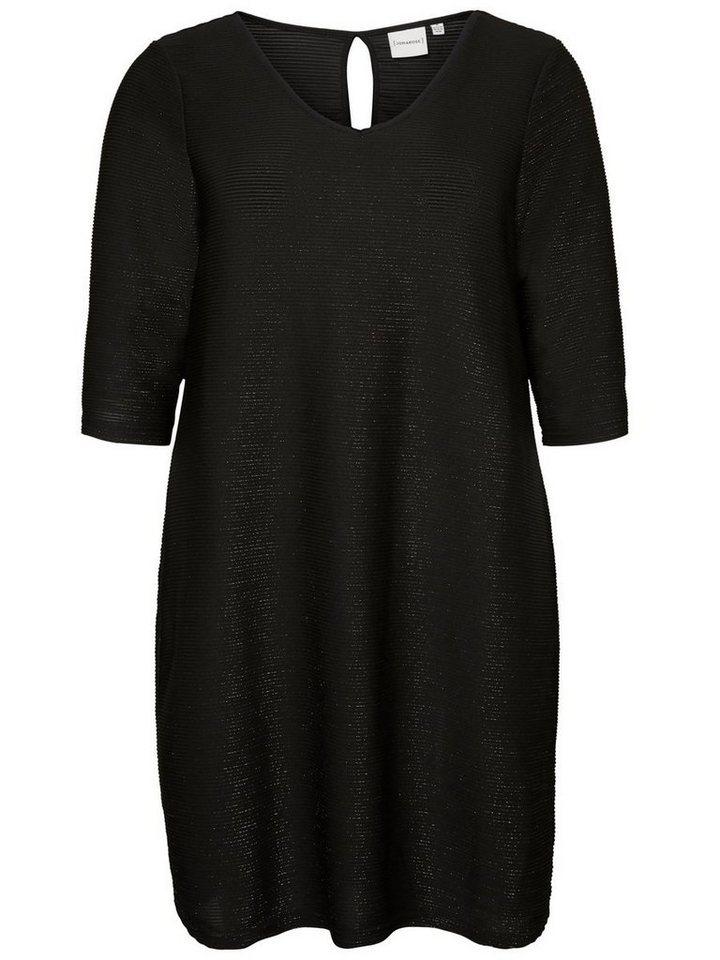 Junarose 1/3-mouwen jurk zwart