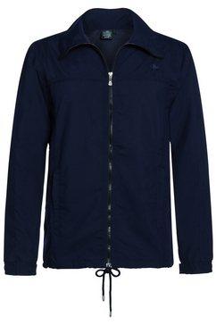 ahorn sportswear trainingsjack met rijgkoord blauw