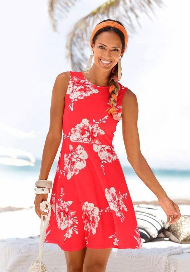 Beachtime zomerjurk rood