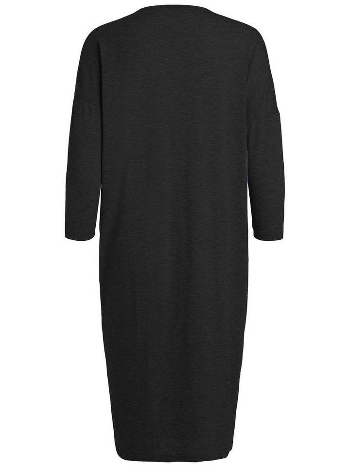 Pieces Lange oversized jurk zwart