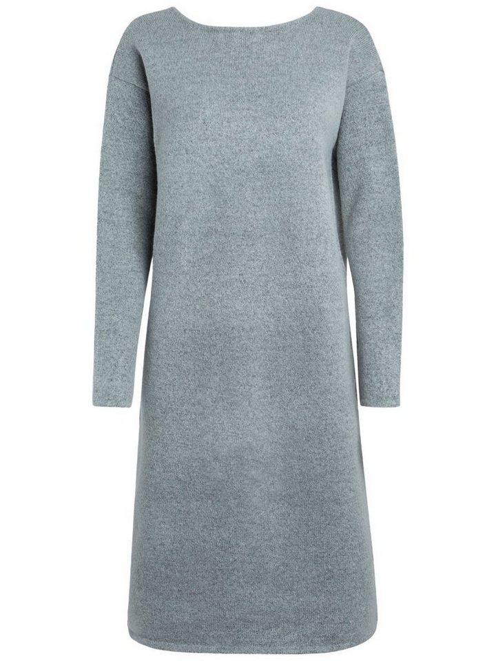 Pieces Lange gebreide jurk grijs