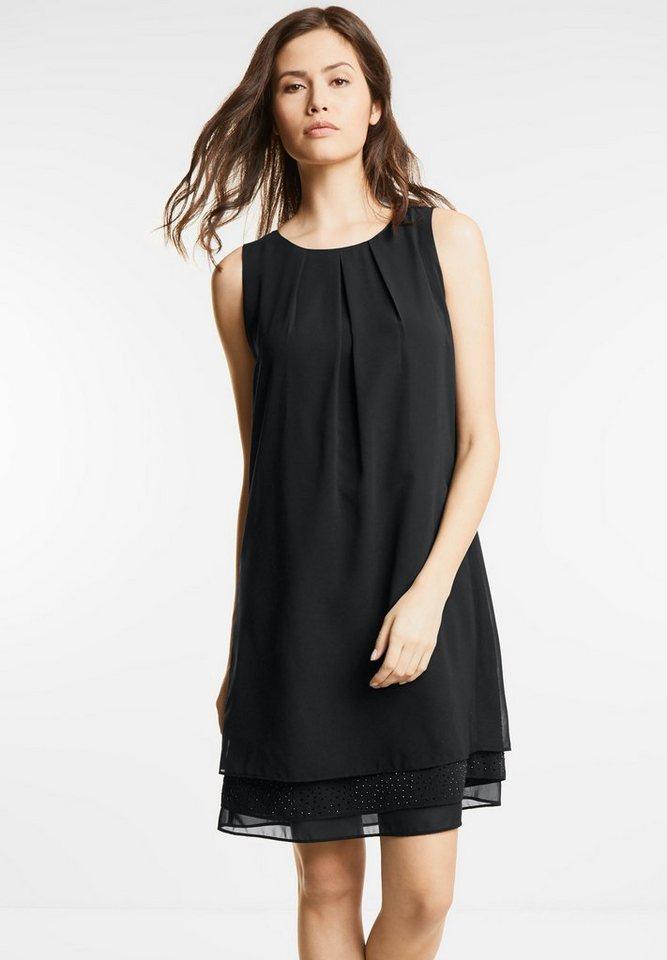 Street One jurk met strass Madeleine zwart