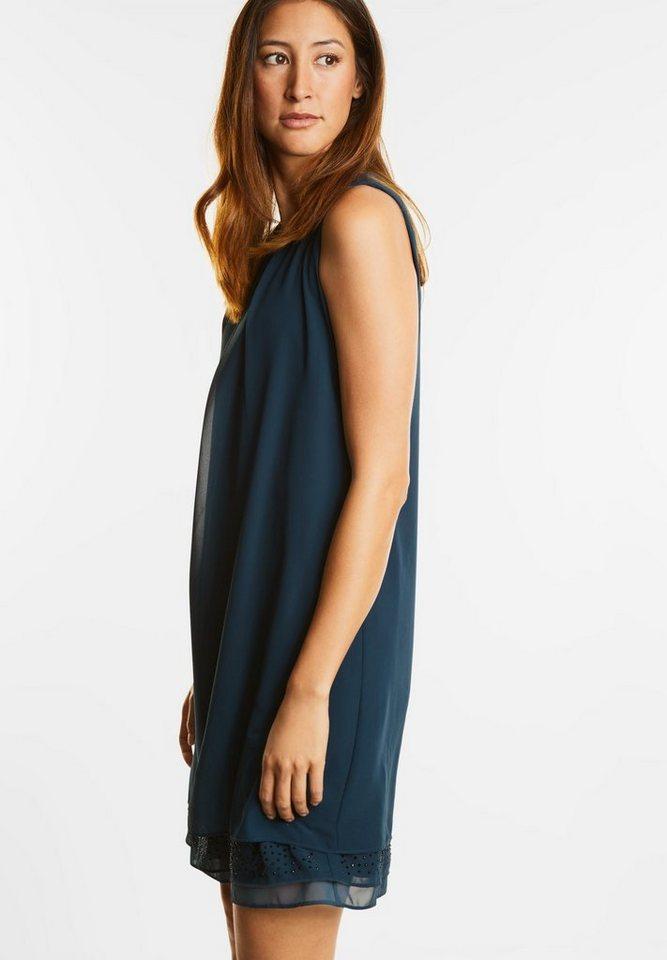 Street One jurk met strass Madeleine blauw