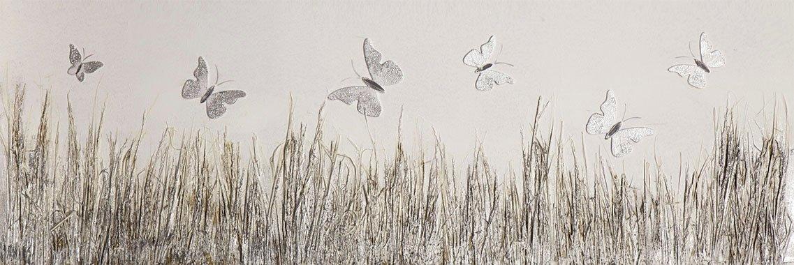 Spiegelprofi GmbH artprint op linnen Butterfly meadow (1 stuk) in de webshop van OTTO kopen
