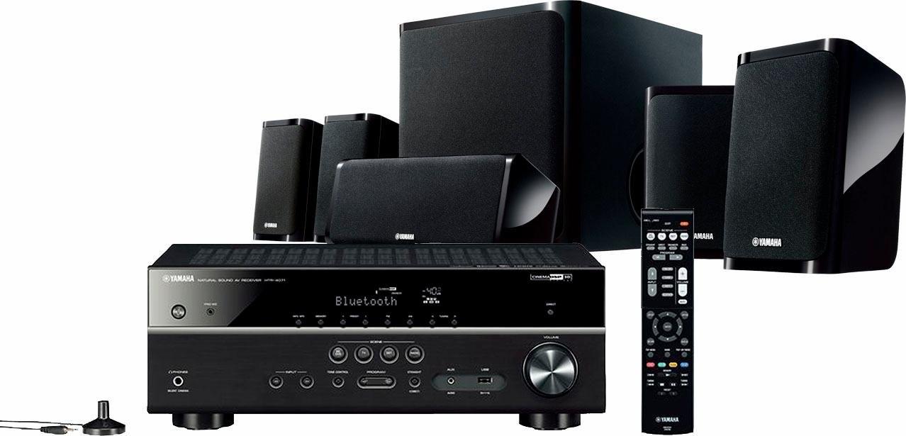 Yamaha YHT-4940 EU 5.1-thuisbioscoop (wifi, Bluetooth, Spotify, Deezer, draadloze subwoofer) - verschillende betaalmethodes