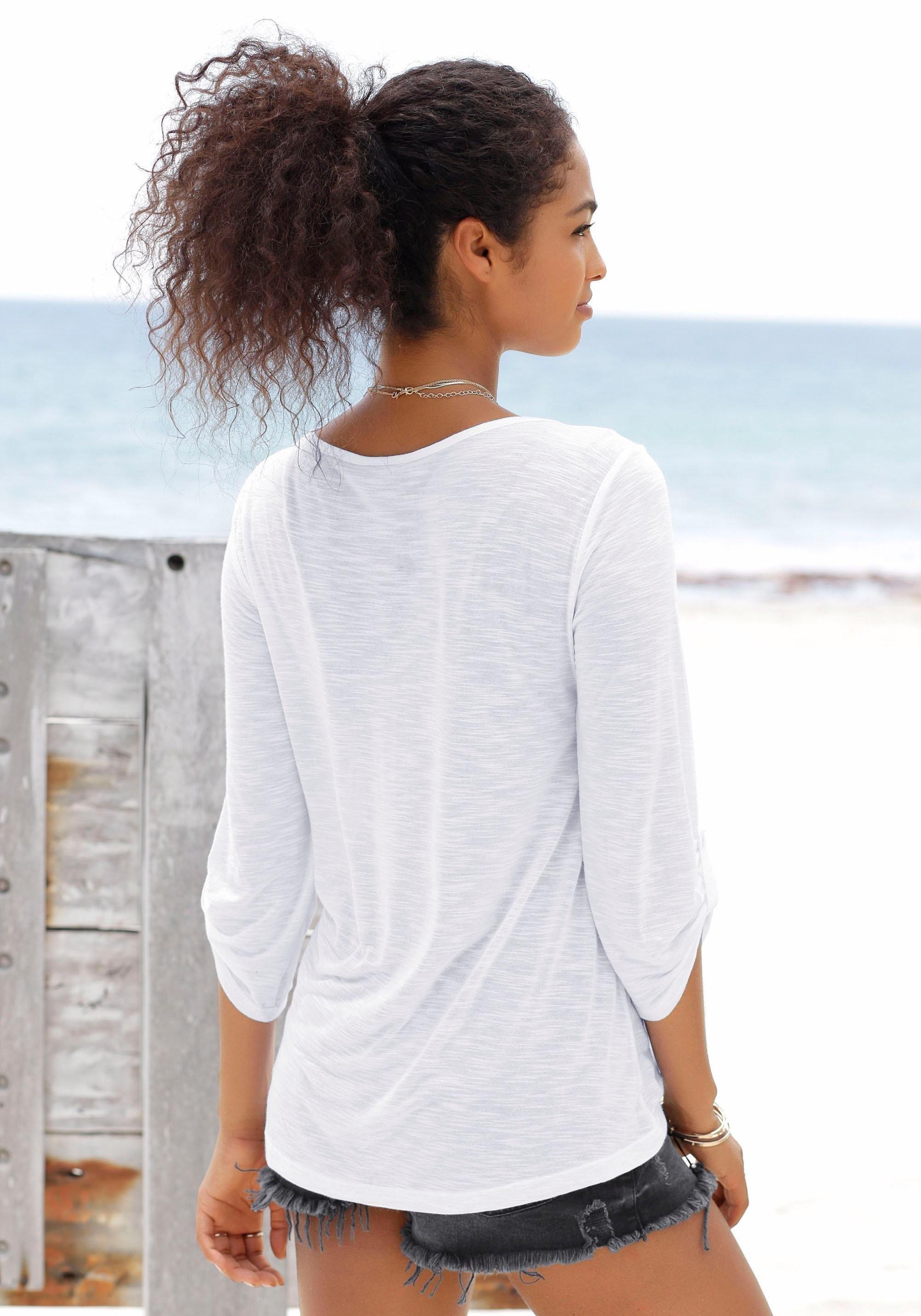 Bestellen Lascana Strandshirt Nu Lascana Online kXZuPi