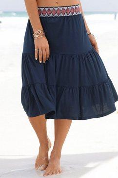 s.oliver red label beachwear korte strandrok blauw