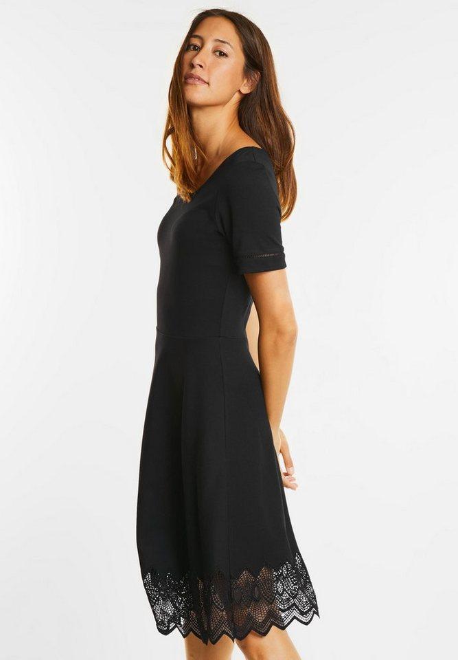 Street One jurk met korte mouw Charlene zwart