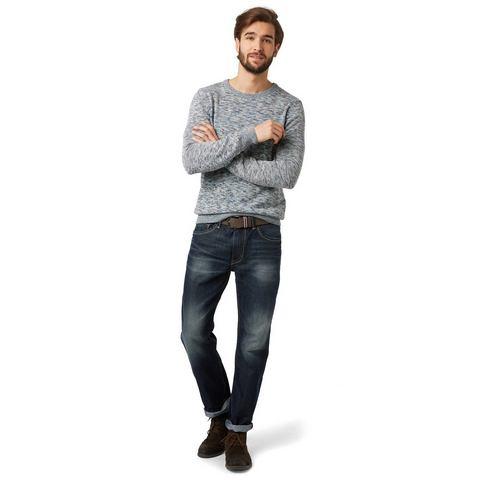 NU 20% KORTING: TOM TAILOR Jeans »Jeans in used-look met riem«